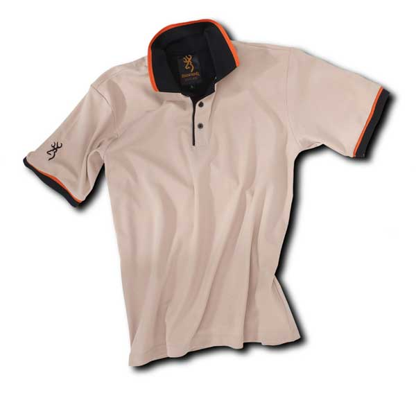 BROWNING, T. Shirt Polo, S-SLEEVE, BEIGE, L